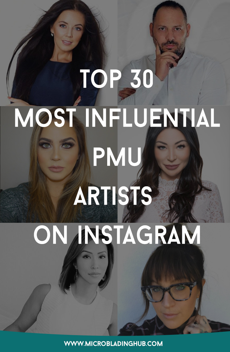 Top 30 Most Influential PMU Artists on Instagram